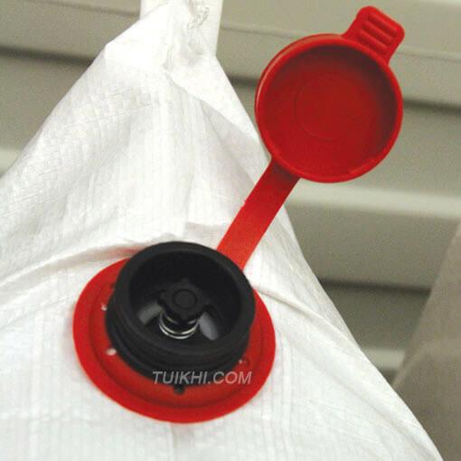 Hình ảnh van bơm và rút khí của túi khí chèn hàng loại PP Woven