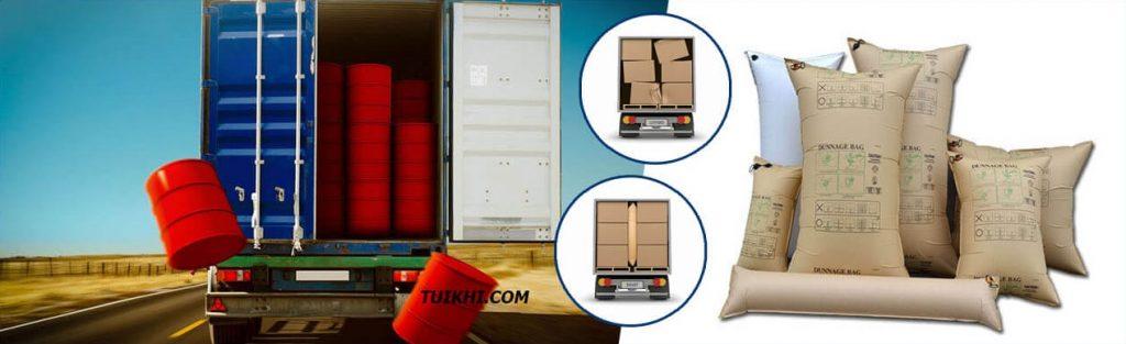 Công dụng túi khí chèn hàng trong vận tải